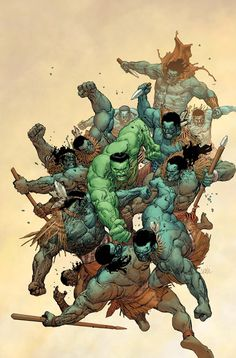 Incredible Hulk seems to bring the Banner/Hulk battle to its inevitable conclusion. You cant judge this book by it cover the scene depicted is no hint to contents. Hulk versus gamma juiced Maurie Warriors would have been epic. Comic Book Artists, Comic Book Characters, Marvel Characters, Comic Artist, Comic Books Art, Comic Character, Marvel Comics, Hulk Marvel, Marvel Heroes