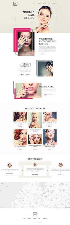 Template 58329 - Nail Studio Responsive Website Template