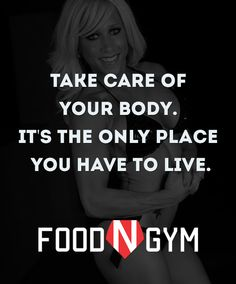 Take care of your body. It's the only place you have to live. #motivation #fitness #fitnessmotivation #quotes #lifequotes
