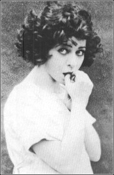 Alla Nazimova… and her fabulous hair/face/pout/person