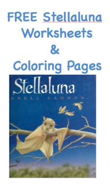 free Stellaluna printable activity worksheets and coloring pages