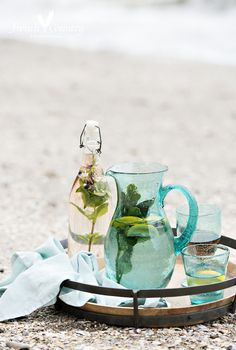 Ocean blue bubble pitcher. The perfect vessel for those summer cocktails.