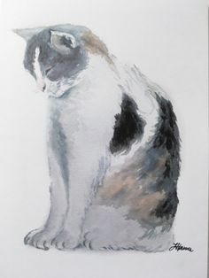 Cat greeting cards set of 3. Print of an original watercolor
