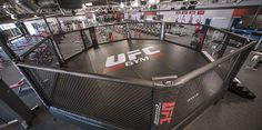 UFC gym provides a large boxing ring for the #boxing practice. The floor of the platform is made of suitable approved material which covers the entire platform.
