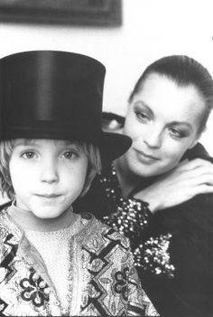 Romy Schneider and her son, David.