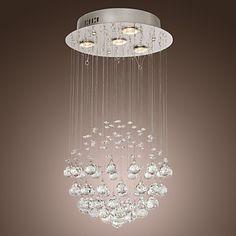 K9 Crystal Chandelier with 4 Lights in Globe Shape – USD $ 179.99