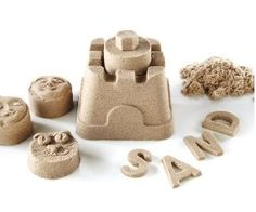 Check out the amazing Kinetic Sand by Waba Fun! Kinetic sand is like magic sand, it holds its shape! Airplane Activities, Sensory Activities, Toddler Activities, Sensory Play, Sensory Table, Sand Play Dough, Play Doh, Toddler Travel, Toys