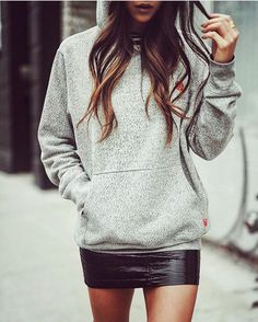 """27 Likes, 4 Comments - Think Inside The Closet (@thinkinsidethecloset) on Instagram: """"A #hoodie and #miniskirt love the look on @notyourstandard #thinkinsidethecloset #streetstyle…"""""""