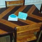 Ana White | Build a Chevron Patterned Dining Table Top | Free and Easy DIY Project and Furniture Plans