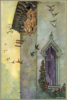 Robert Franklin Booth Illustration from James Whitcomb Riley's The Flying Islands of the Night of Art And Illustration, Ink Illustrations, Arthur Rackham, Franklin Booth, Harry Clarke, Ghost In The Machine, Kay Nielsen, William Blake, Fairytale Art