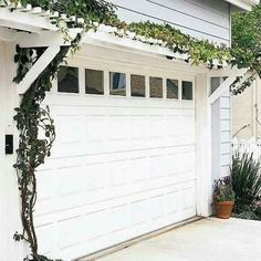 Pergola above garage door