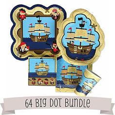 Ahoy Mates! Pirate - Birthday Party 64 Big Dot Bundle   BigDotOfHappiness.com