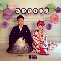 #thesweetcloset #オーダーメイドフォトウエディング 書道のお仕事をされているお二人のフォトウエディング。  coordinate by  AikoKitahara