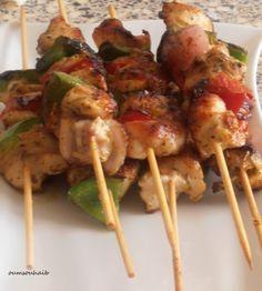 brochettes de poulet aux épices «tandoori chicken masala» #recette #brochette #poulet #facile