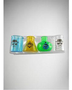 3 oz. Breaking Bad Beaker Plastic Shot Glass Set - Spencer's