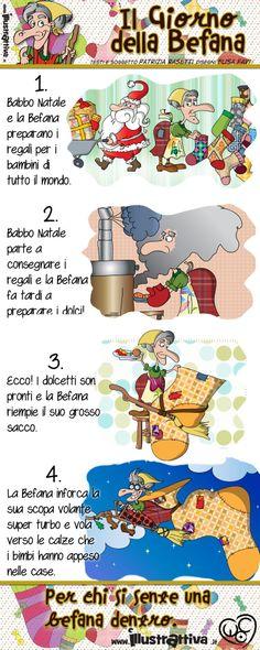 Tutta La Mini Storia Della Befana Funny ChristmasLittle ChristmasLearning ItalianTeaching