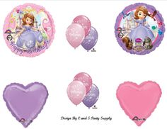 Disney's SOFIA THE FIRST Happy Birthday PARTY Balloons Decorations Supplies  Sofia The First Birthday Balloons Decorations Supplies Mylar balloons, double sided and self sealing. Disney! NEW!! DELIVERED UNINFLATED..JUST ADD HELIUM! 10 pieces!  Price:	$9.75  available now at webmallforyou.com