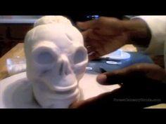 Zombie Skull Cake Tutorial