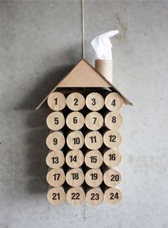 advent calendar toilet paper rolls