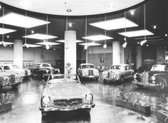 Mercedes show room in Australia #190SL #mb (via: https://www.facebook.com/VintageAutomobileDealershipsandAutomobilia) / #BruceAdams190SL #190SLRestorations