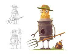 Robot Farmer by Alexandrov Alexandr #Design Popular #Dribbble #shots
