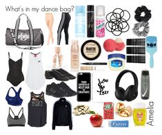 """""""What's in my dance bag?"""" by meelz7951 on Polyvore featuring Ballet Beautiful, NIKE, adidas, adidas Originals, Victoria's Secret PINK, GHD, Batiste, Monki, Berry and Eos"""