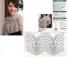 .This is a pretty summer weight shawl