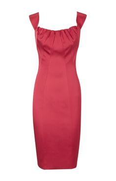 Karen Millen Satin Pencil Dress Pink Product details: * Signature stretch satin pencil dresswith with intricate panelling and gathered neckline with cutaway detail to back. * Material :22% Polyamide,3% Elastane,75% Acetate * Color : Show as pictures Free shipping and fast delivery to all over the world.