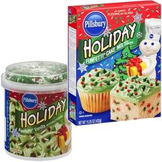 Pillsbury Holiday Funfetti Cake Mix and Icing Combo: Everything You Need to Make One Complete Christmas or Holiday Cake Holiday Cakes, Christmas Desserts, Holiday Treats, Chocolate Pancakes, Funfetti Cake, Edible Food, Pillsbury, Icing, Frosting