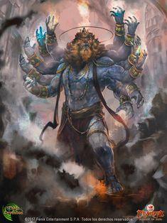 Narasimha is the avatar of the Hindu god Vishnu, half man and half lion, dharma edition myths and legends Shiva Tandav, Rudra Shiva, Shiva Art, Krishna Art, Hindu Art, Lord Shiva Hd Wallpaper, Lord Hanuman Wallpapers, Hanuman Hd Wallpaper, Angry Lord Shiva