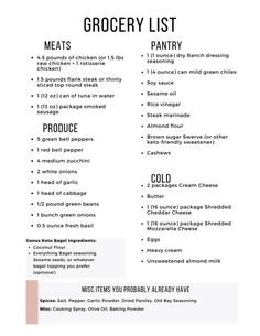 Don't miss these delicious 5 keto dinners + one bonus low-carb breakfast! Make keto easier with this Easy Keto Meal Plan! Green Chili Chicken, Raw Chicken, Keto Stir Fry, Top Round Steak, Cabbage And Sausage, Easy Keto Meal Plan, Printable Shopping List, Eating Alone, Veggie Sandwich
