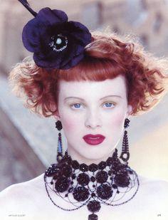 ☆ Karen Elson   Photography by Arthur Elgort   For Vogue Magazine UK   October 1997 ☆