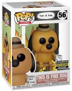 This Is Fine Dog, Funko Pop, Naruto Vs Sasuke, Pop Vinyl Figures, Display Boxes, Cool Gadgets, Pop Culture, Action Figures, Mickey Mouse