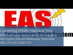 FEMA's IPAWS To Hold National Test of Emergency Alert System Today - YouTube