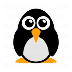 Penguin Clipart from the website Adorabletoon.com