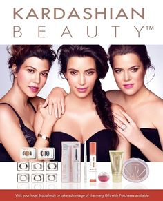 Kardashian Beauty South Africa, now available at Stuttaford! Kardashian Beauty, Kim Kardashian, Famous Sisters, Hollywood Celebrities, Beauty Hacks, South Africa, Celebrity, Makeup, Maquillaje