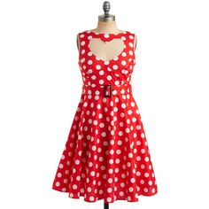 Coeur à la Crème Dress (5.795 RUB) ❤ liked on Polyvore featuring dresses, red, vestidos, polka dots, dot dress, dot print dress, stretchy dresses, red dress and moon collection dress