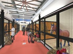 """A 21st Century Ark, that even Noah would approve of. """"The ARK at JFK Airport in NY, caters to dogs, cats and even horses, arriving and departing as cargo."""""""
