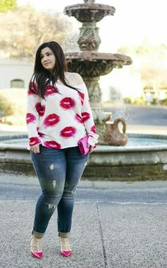 Cute Outfits For Plus Size Women. Graceful Plus Size Fashion Outfit Dresses for Everyday Ideas And Inspiration. Plus Size Refashion. Look Plus Size, Plus Size Casual, Plus Size Women, Plus Size Outfits, Plus Size Dresses, Casual Wear, Casual Outfits, Cute Outfits, Fashion Outfits