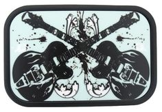 Belt Buckle Electic Guitars by Buckle Down Stainless Steel Rock Music