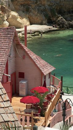 Popeye Village in Anchor Bay, Malta • photo: GeertVG on Flickr