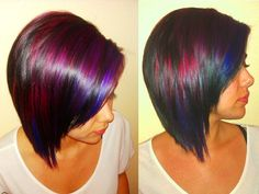 funky hair color ideas | Some of my fun funky color..this is where my creativity gets out of ...