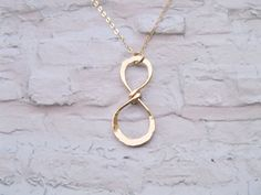 Infinity charm necklace Gold filled jewelry by saragalstudio