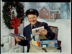 The olden days. Mr Barnhart was our mailman. How many people today know their mailman's name? Or ever see him, for that matter. When I was growing up, the mailman walked the beat and had a little cart with mail in it and hand delivered it door to door.