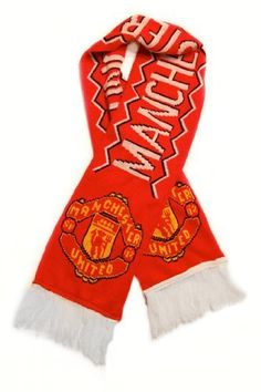 """Manchester United FC - Premium Fan Scarf, Ships from USA by Premiership. Save 38 Off!. $15.50. Authentic Fan Scarf Over 5 Feet Long. Soft fringes at either end. Brand New Authentic Fan Scarf featuring Classic Team Colors. Soft, warm acrylic knit. Full Man Utd Team Name and Crest print on each side. Show your passion for the legendary """"Red Devils"""" by wearing this authentic fan scarf ! As the classic Soccer Fan accessory, this stylish team scarf makes a great gift idea for all ManU..."""