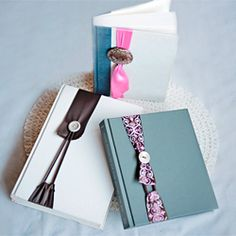 DIY Project - Nifty Ribbon & Button No Slip Bookmark #craftgawker
