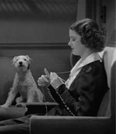 Yet another reason to love Myrna Loy! And Asta is very supportive of her craft.