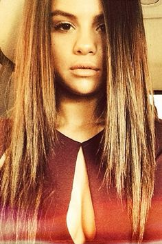 "Selena Gomez snapped a selfie while en route to the 2014 iHeartRadio Music Awards on May 1, 2014, writing: ""iheart filterz."""
