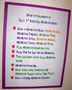 7 ways to celebrate at the little monster's party