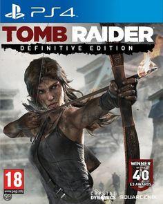 Tomb Raider (Definitive Edition)  PS4 Tomb Raider – Definitive Edition is het toonaangevende actie‐avontuur waarin een jonge en onervaren Lara Croft transformeert in een geharde overlever. In deze volledig vernieuwde versie voor PlayStation 4 vind je een zeer gedetailleerde Lara en een complete ultrarealistische wereld.